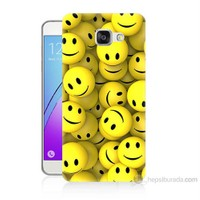 Teknomeg Samsung Galaxy A5 2016 Kapak Kılıf Smile Baskılı Silikon