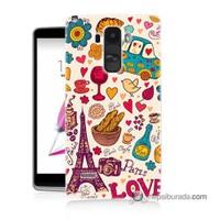 Teknomeg Lg G4 Stylus Kapak Kılıf Paris Love Baskılı Silikon