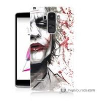 Teknomeg Lg G4 Stylus Kapak Kılıf Kanlı Joker Baskılı Silikon