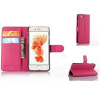 Teleplus İphone 6S Plus Cüzdanlı Standlı Kılıf Kırmızı