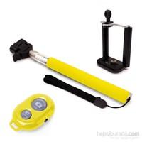 Codegen SSB-09Y Bluetooth Bağlantılı Uzaktan Kumandalı Sarı Selfie Çubuğu