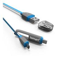 Tsmart 2İn1 Şarj Kablosu İphone Ve Android Şarjı Aynı Kabloda