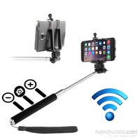Mobile World Zoom Özellikli Bluetooth Selfie Çekim Çubuğu Siyah