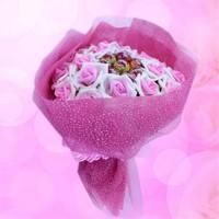 Sevgiliye Romantik Hediye Tatlı Bahçe Gül Buketi