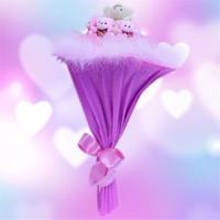 Sevgiliye Romantik Hediye Love Prenses Buketi