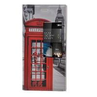 Teleplus Huawei P8 Desenli Pencereli Kılıf Kırmızı Telefon
