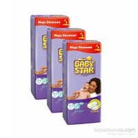 Baby Star Bebek Bezi Jumbo 3'lü Paket 5 Beden 132 Adet