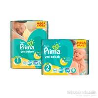 Prima Bebek Bezi Yeni Bebek Mega 2'li Paketi 2 Beden 160 Adet