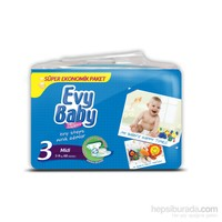 Evy Baby Bebek Bezi Süper Ekonomik 3 Beden 68 Adet