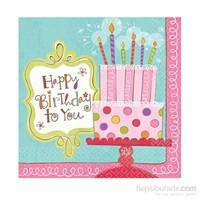 KullanAtMarket Tatlı Doğum Günüm Peçete 16 Adet