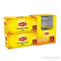 Lipton Bardak Poşet Çay Yellow Label 50'li + Cam Bardak Hediyeli