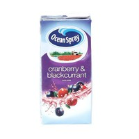 Ocean Spray Cranberry Blackcurrant Tetrapak 1Lt