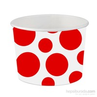 KullanAtMarket Kırmızı Puantiyeli Karton Kase 8 Adet