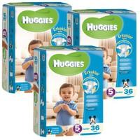 Huggies Oğlum İçin Bebek Bezi Jumbo 3'lü Paket 5 Beden 108 Adet