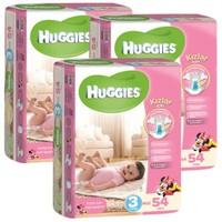 Huggies Kızım İçin Bebek Bezi Jumbo 3'lü Paket 3 Beden 162 Adet