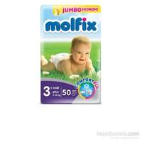 Molfix Bebek Bezi 3+ Beden Midi Plus Jumbo Paket 50 adet