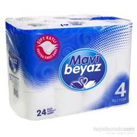 Mavi Beyaz Çift Kat Tuvalet Kağıdı 24'lü