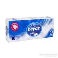 Mavi Beyaz Çift Kat Tuvalet Kağıdı 10'lu