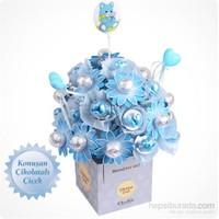 ChocChic Erkek Bebek Buketi Çikolatalı Çiçek