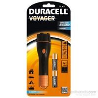 Duracell Led Fener CLX-1 Dayanıklı & Işık Oluklu Kauçuk Serisi 2xDuracell AA pil hediyeli