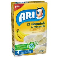 Arı Mama 12 Vitaminli 6 Minaralli Sütlü Muzlu Pirinç Unu 250 gr