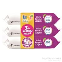 Uni Baby Islak Tuvalet Kağıdı 3'lü Ekonomik Paket 180 Yaprak