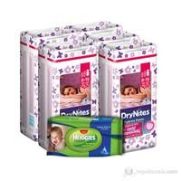 Huggies Dry Nites Emici Gece Külodu Kız 5 'li Paket L Beden 45 Adet (1 Adet Islak Havlu Hediye)