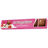 Schogetten Alpine Yoğurt Çilek Çikolata 33 gr x 4 Adet