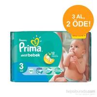 Prima Bebek Bezi Aktif Bebek Ekonomi Plus 3 Beden
