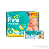 Prima Bebek Bezi Yeni Bebek Mega Paket 2 Beden 80 Adet