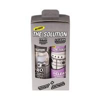 The Solution I-Set Ankastre Inox Paslanmaz Çelik Beyaz Eşya Cam Fırın Ocak Temizleme Seti (Yağ Sökücü Ve Parlatıcı Bakım Sıvısı) I-Pro I-Clean