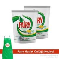 Fairy Hepsi Bir Arada Bulaşık Makinesi Deterjanı Kapsülü Limon 104 Yıkama (Önlük Hediyeli)