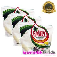 Fairy Bulaşık Tableti Hepsi Birarada 3X100 Yıkama Sarı