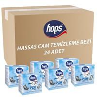 Hops Hassas Cam Temizleyici 12 X 20 (12Paket X 20Adet)