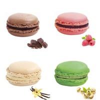Nefis Gurme Karışık Macaron 12'Li (Çikolatalı Antep Fıstıklı Vanilyalı Frambuazlı X 3 Er Adet )