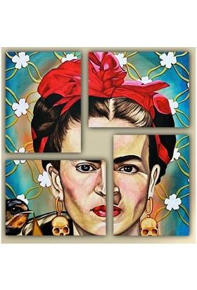 Tictac 4 Parça Kanvas Tablo - Frida
