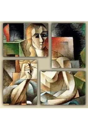 Tictac 4 Parça Kanvas Tablo - Picasso 2