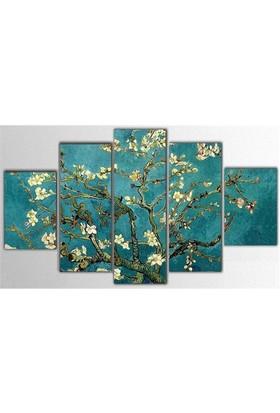 Tictac Van Gogh - 5 Parça Kanvas Tablo - 100X60 Cm