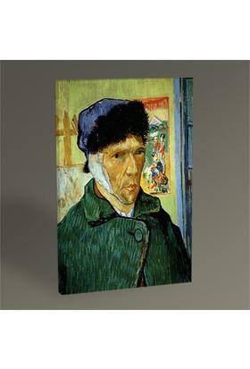 Tablo 360 Vincent Van Gogh-Portrait With Bandaged Ear 45X30