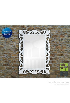 Bmd Mobilya Dekoratif Ayna 1 Beyaz
