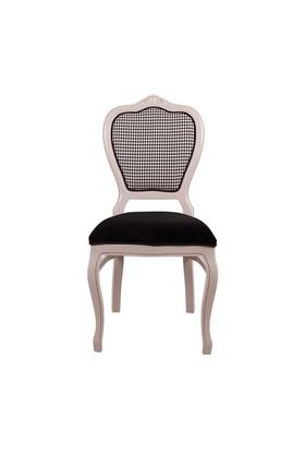 3A Mobilya Mira Sandalye - Beyaz Siyah