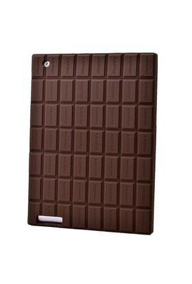 Teleplus İpad 2 Çikolata Desenli Silikon Kılıf