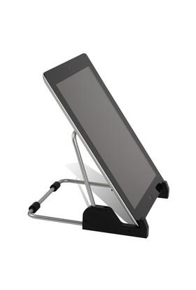 Tilki Dünyası Ev Ve Ofis İçin Gümüş Renk Ayarlanabilir Tablet İpad Tutucu