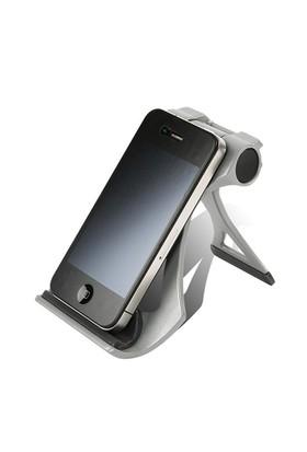Tilki Dünyası Gümüş Renk Ayarlanabilir Telefon, Tablet Ve İpad Tutucu