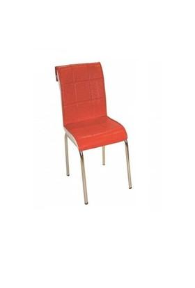 Sandalye Kırmızı Suni Deri (6 Adet)