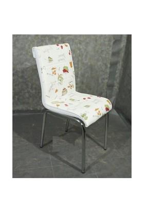 Mavi Mobilya Sandalye Latte Suni Deri (6 Adet)