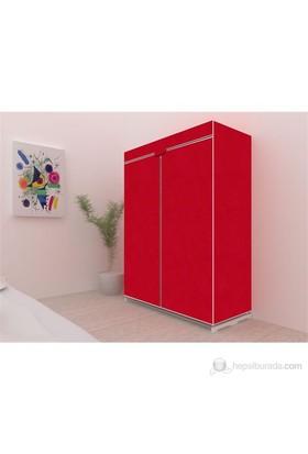 Prado Tela Kırmızı Bez Dolap