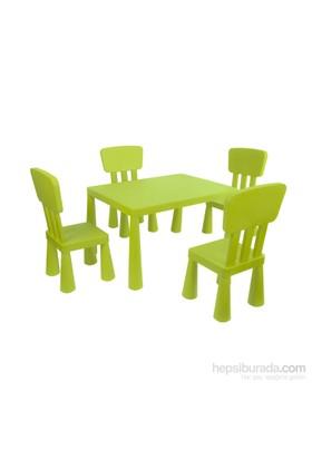 Hepsiburada Home Mini Çocuk Masa-Sandalye Seti - Yeşil