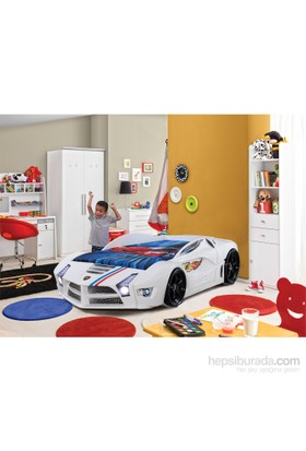 FastBack Arabalı Yatak Beyaz