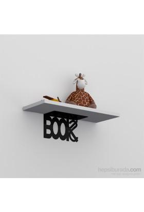 Decormet Book Raf ve Kitaplık Seti Siyah - P.Beyaz